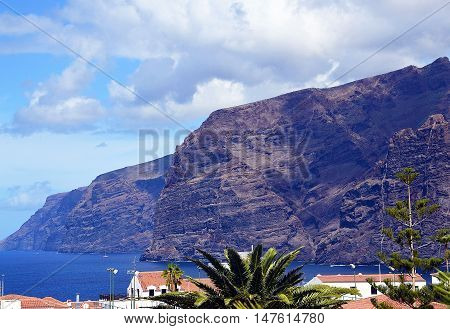 View on Los Gigantes in Tenerife,Canary Islands.