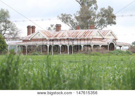 An abandoned old house on an Australian farm.