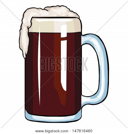 Vector Cartoon Tankard Of Dark Beer