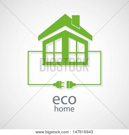 Eco home concept. Vector.