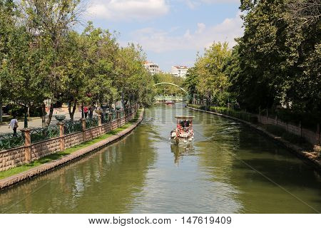 Porsuk River In Eskisehir