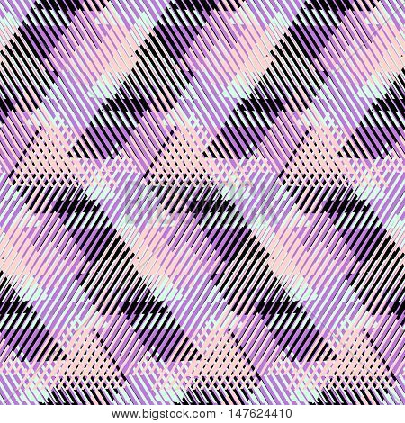 Triangle pattern. Vector striped texture. Geometric background. Vector triangles. Geometric print with stripes.Bold triangle background. Geometric shapes.Seamless print with triangles.Geometric lines.
