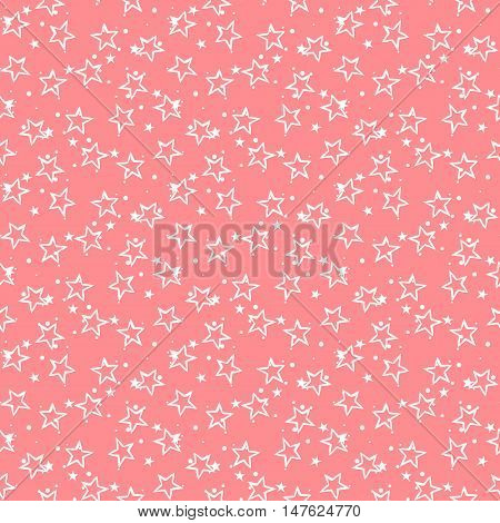 Cute stars. Stars pattern. Cute vector. Vector stars. Seamless stars. Cute seamless patter. Pink cute pattern. Vector cute background. Ditsy cute stars. Small cute stars. Cute vector. Vector seamless.