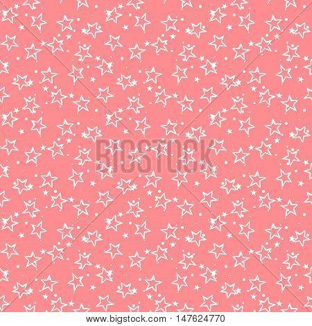 Cute stars. Stars pattern. Cute vector. Vector stars. Seamless stars. Cute seamless patter. Pink cute pattern. Vector cute background. Ditsy cute stars. Small cute stars. Cute vector. Vector seamless.