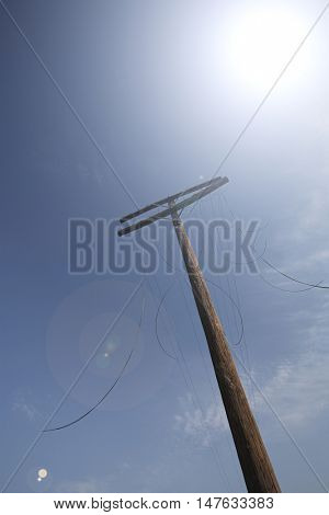 Electricity Telephone Pole