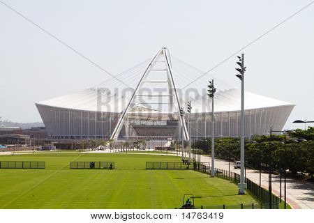 DURBAN, SOUTH AFRICA - MARCH 6: brand new Moses Mabhida Stadium, Durban is almost ready for 2010 FIFA world cup games, on March 6, 2010 in Durban, South Africa.