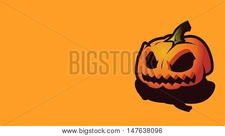 Halloween  background  Pumpkin head, zombie hand, Halloween symbols. Halloween silhouette for Halloween party flyer invite card design. Halloween night background ghost zombie illustration