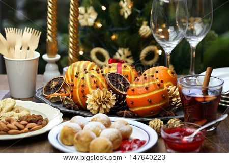 ebelskiver, danish christmas pancake puffs, and glogg