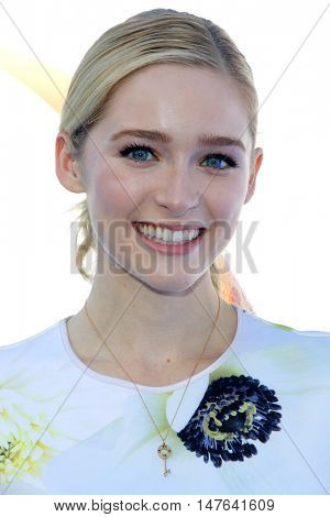 Greer Grammer at the Los Angeles premiere of 'Storks' held at the Regency Village Theatre in Westwood, USA on September 17, 2016.