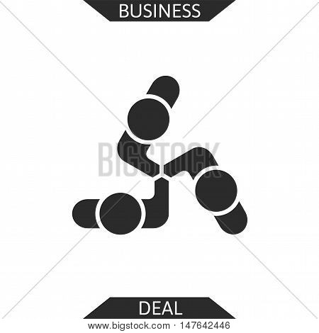 Handshake abstract logo vector design template, business creative concept, cooperation symbol icon, corporate financial sign