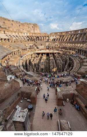 ROME, ITALY - September  12, 2016: Colosseum in Rome, Italy