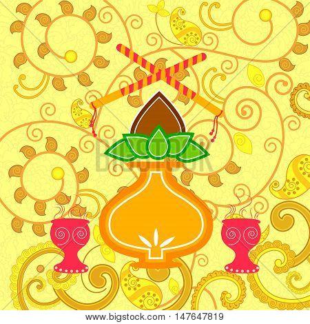 Vector design of India festival Happy Dussehra background