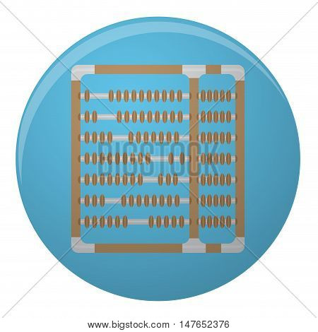Icon mobile app abacus design flat. Abacus icon for counting accounting and calculate old abacus for finance. Vector illustration