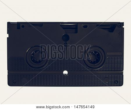 Vintage Looking Vhs Cassette Isolated