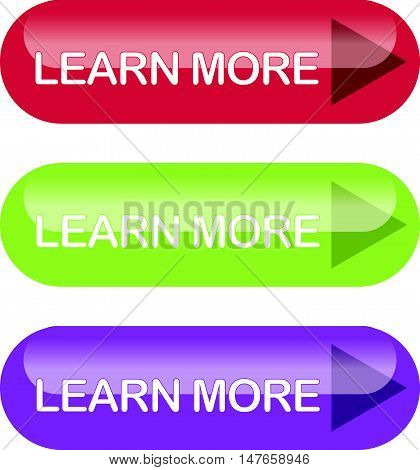 Colorful Set of Shiny Learn More Button