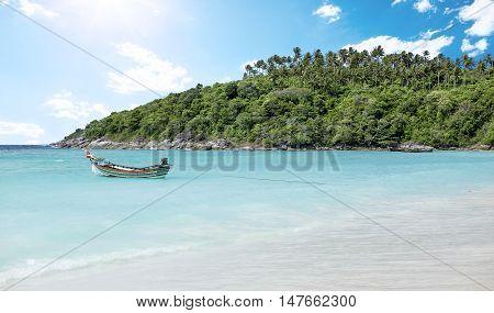 Raya Island beach near Phuket Island Thailand