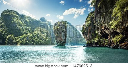 Panorama of James Bond Island in Thailand