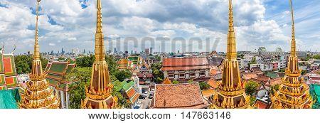 Panoramic View Of The Historical Part Of Bangkok, Thailand
