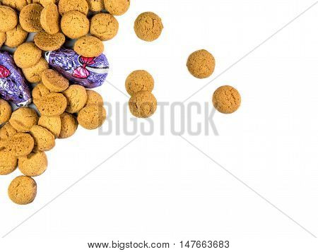 Bunch Of Pepernoten Cookies And Chocolate Mice