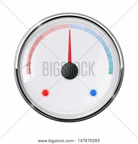 Thermometer. Industrial temperature gauge. Vector illustration isolated on white background