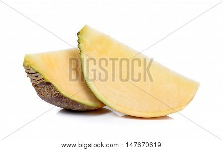 Slice Of Swede Isolated On The White Background
