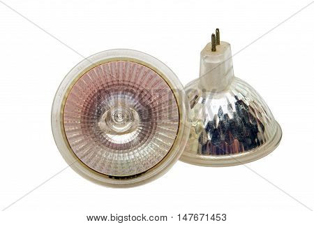 helical lamp isolated on a white background