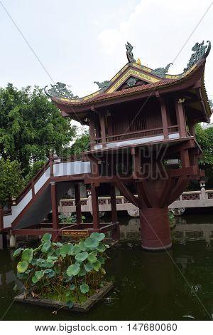 Old Buddhism One Pillar Pagoda In Vietnam