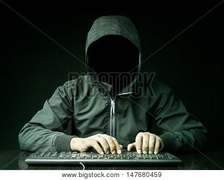 Hacker and keyboard high quality and high resolution studio shoot