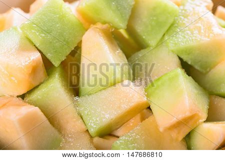 Melon slices background. Delicious melon. Melon slices.