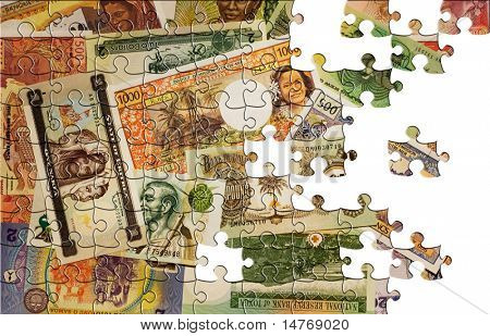 Puzzle Money background