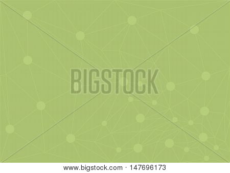 triangle line with nod point green abstract lowpoly background