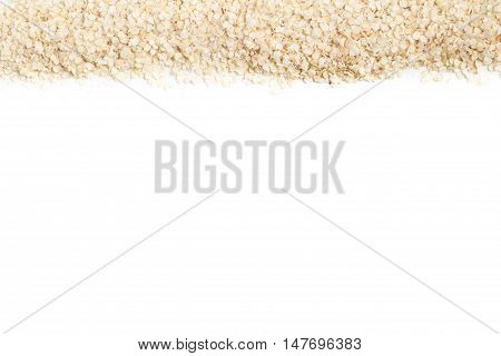 Quinoa Flakes Frame isolated in white background
