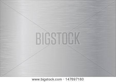 Metal brushed background. Steel plate. Vector illustration