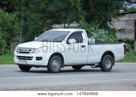 CHIANGMAI, THAILAND - AUGUST 18, 2016: Private Isuzu Dmax Pickup Truck. On road no.1001 8 km from Chiangmai city.