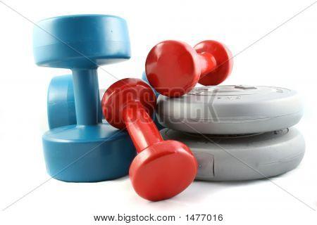 Hanteln und freien Gewichten