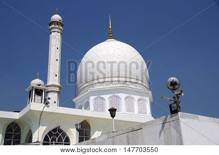 Mosque in a village near Srinagar in Kashmir, India