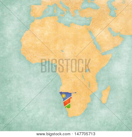 Map Of Africa - Namibia