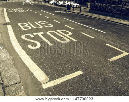 Vintage Looking Bus Stop