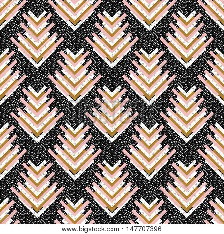 Seamless graphic. Retro pattern. Memphis ornament. Avant-garde print. Vintage background. Bauhaus art. Postmodernism wallpaper. Hipster backdrop. Futuristic design. Geometry illustration. Vector.