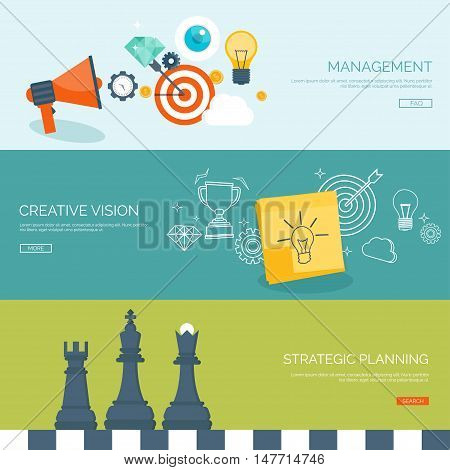 Vector illustration. Flat background with chess.Strategy. Money making. Bank deposit. Financials.