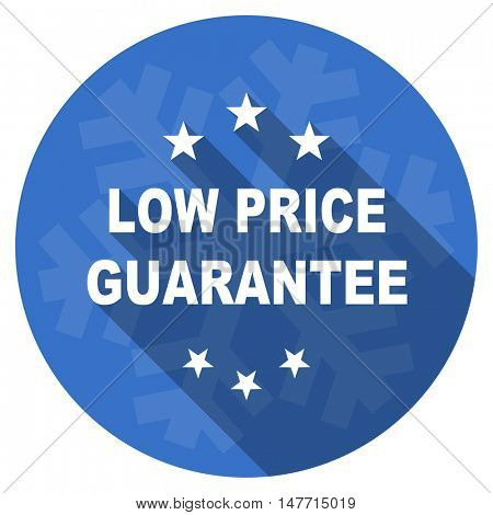 low price guarantee blue flat design christmas winter web icon with snowflake