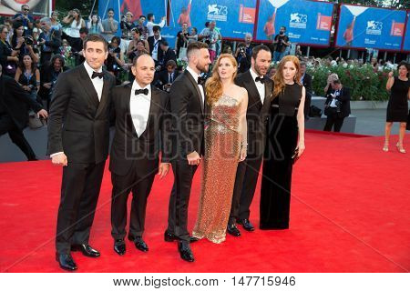 Fim cast at the premiere of Nocturnal Animals at the 2016 Venice Film Festival. September 2, 2016  Venice, Italy