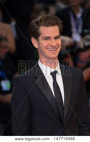 Andrew Garfield  at the premiere of Hacksaw Ridge at the 2016 Venice Film Festival.