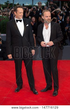Hugo Weaving, Vince Vaughn  at the premiere of Hacksaw Ridge at the 2016 Venice Film Festival. September 4, 2016  Venice, Italy