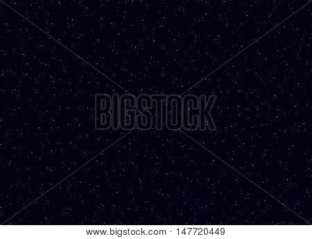 Space stars background vector illustration of The night sky. Infinity Space