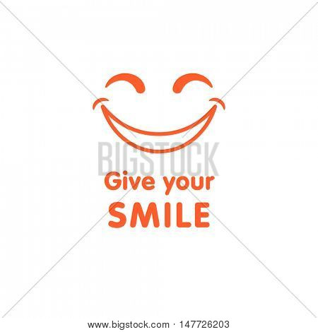 """Give your smile!"" sticker or t-shirt design"