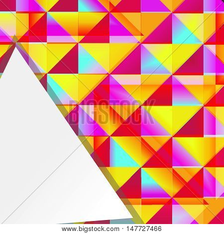 Vector triangle background with place for text. multicolor