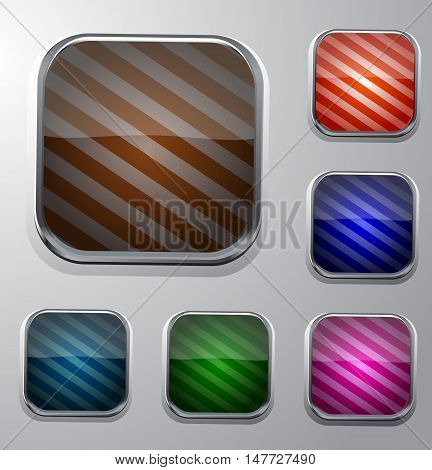 Set of striped buttons for your design.