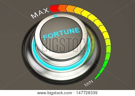 Fortune controller highest level fortune. 3D rendering