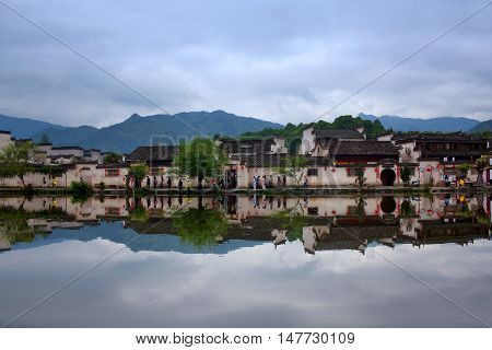Hongcun Village In Anhui Provunce, China